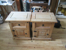Bedside table cabinet - Pinewood 2 units