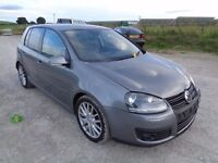 2007 VOLKSWAGEN GOLF GT SPORT 2.0 TDI PD 140 BHP 5 DOOR HATCHBACK GREY UNRECORDED DAMAGE HPI CLEAR