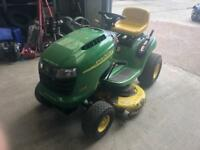 Ride on mower. Ride on lawnmower John Deere ride on lawnmower