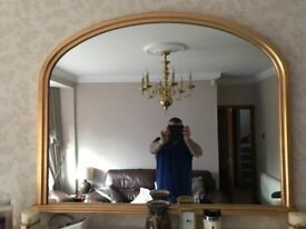 Large gold leaf mirrors 4ft long