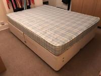 Myers double divan bed, 4 drawers & comfort mattress