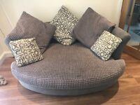 Dfs cuddle sofa in grey