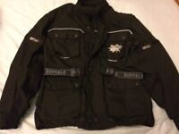 Motorbike jacket and trousers with padding, will sell separately, good condition.