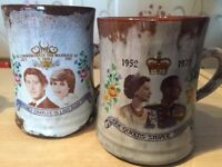 Two Ewenny collectible mugs