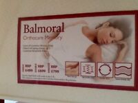 £100 (RRP £499) ea. BALMORAL. New in still packaging orthpedic / memory foam double-sided