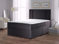 BRAND NEW BLACK DIVAN BASE WITH BLACK MEMORY FOAM MATTRESS SINGLE,DOUBLE AND KING SIZE