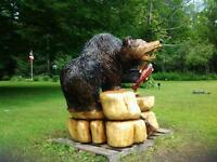 bear chainsaw woodcarving (  LARGE ) north of belleville