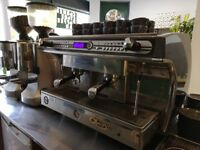 2 Group Espresso Machine and Mazzer Grinders Great condition.