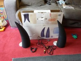 EDIFIER Spinnaker E30 bluetooth speakers, incomplete set