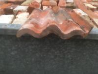 Roof tiles pan red brick