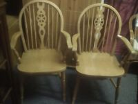 Pair of carver chairs with possible delivery- RESERVED