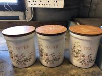 Tea , coffee , sugar jars