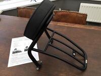 Harley Davidson - Fehling Black Solo Seat Sissy Bar/Rack