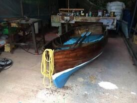 Traditional clinker boat