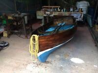 Traditional clinker boat