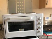 Worktop grill/oven plus 2 cooking rings