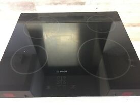 Bosch hob, almost new. Touch sensitive, 4 ring, perfect condition. 60mm wide