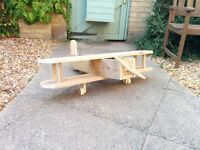 Planter - Aeroplane. Made of Wood Approx 90cm wing span 90cm long. Ideal for garden or patio