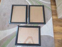 "3 x Black Frames size 14"" x 18"""