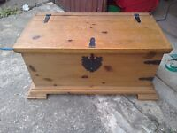 Solid pine trunk/chest