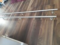 off a warriorA pair of top notch high quality brushed marine grad stainless steel grab rails
