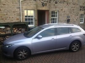Mazda 6 estate 2008. Low mileage, great condition with service history and MOT to April.