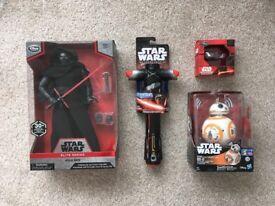 Star Wars Bundle inc BB8, Kylo Ren lightsaber, figure & Rey Speeder 8gb USB RARE