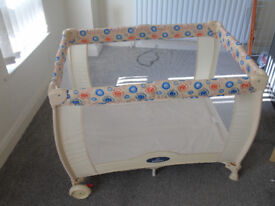 Used Good Condition BabyStart Deluxe Travel Cot