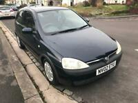 Vauxhall Corsa 1.2 Petrol 3Dr 2002 New MOT Very Low Mileage
