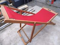 new hardwood and canvas deck chair £25. o.n.o.