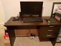 Computer Table/Desk (Brand New - Dark Brown)