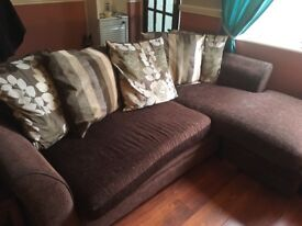 Corner sofa and 2 seater suite for sale