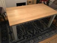 Chunky hardwood dining table - great condition, £150 ono ****reduced****