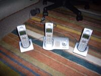 Panasonic Triple set of Phones