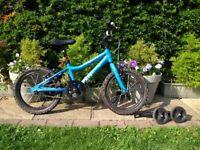 16 inch Ridgeback child's blue bike. (age 5-8 approx)
