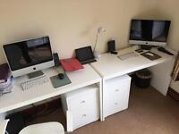 White gloss complete office .. 8 pieces