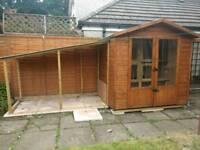 Rabbit / pet summer house (hutch, accommodation, run)