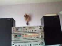 Retro Hi-fi system, ITT Amp, tuner & cassette