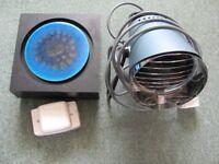 1970s Chiming door bell. 1970s infrared heat lamp.