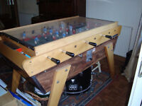 Football table, full size pub type, top quality, revenue earner in club or fun at home, 20p coins