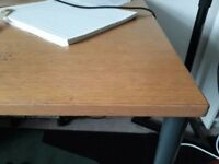 Wooden desk with metal legs 160cm x 80cm - FREE!