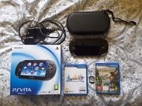 PS Vita 3G+Wi-Fi with 3 games!