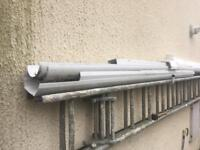 White plastic guttering (only half round left)