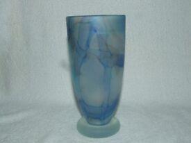 """""""Phoenix Glass Studio"""" Blue Vase"""