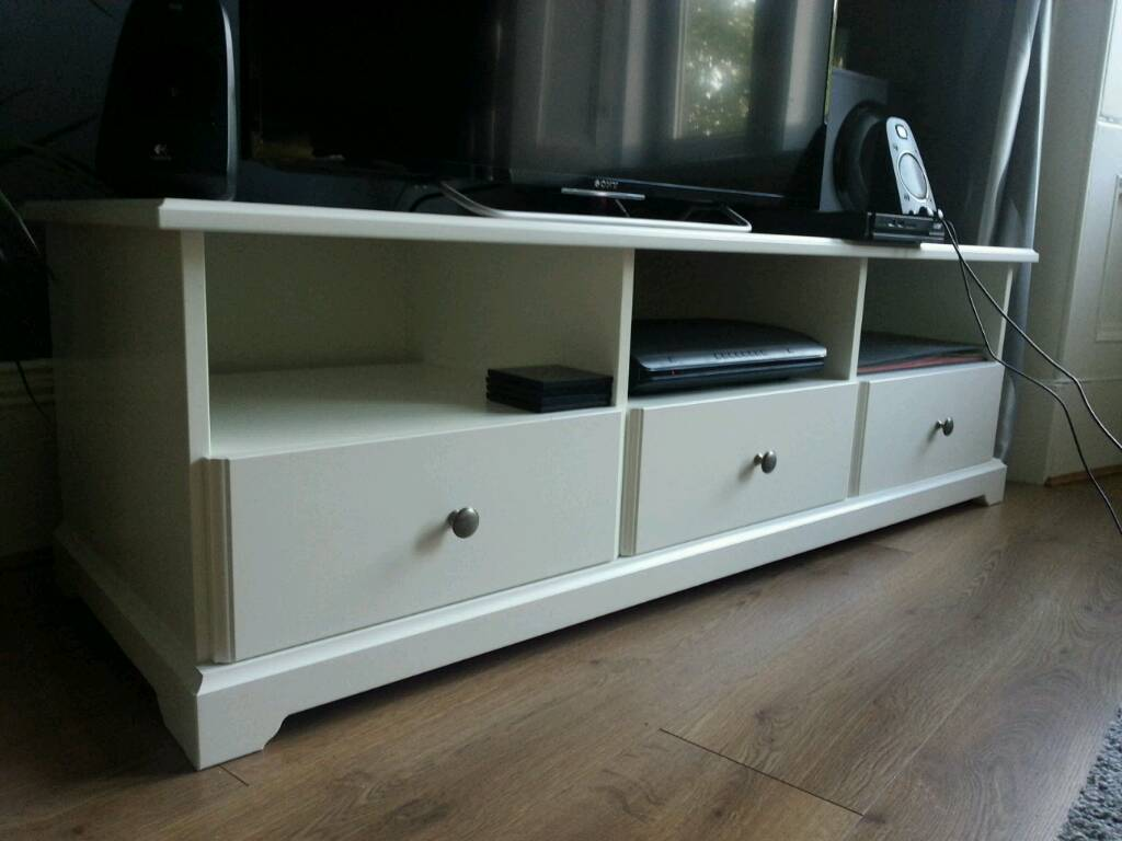 Ikea Liatorp Tv Bench White As New In Uddingston Glasgow  # Meuble Tv Kaorka Ikea