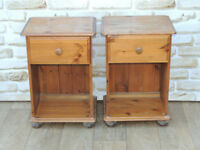 2 Bedside cabinets on bun feet (Delivery)
