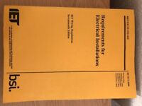 IET Wiring regulations 17th edition.