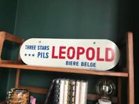 Vintage French Beer Sign - MidCentury - Cool for a bar / man cave / kitchen