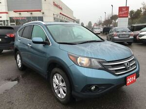 2014 Honda CR-V TOURING NAVIGATION LEATHER CLEAN CARPROOF ONE OW