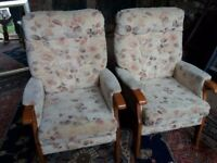 Two relax Richmond fireside chairs